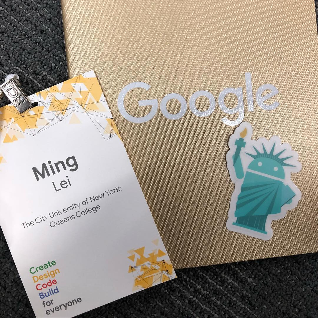 popoway's name tag, along with other souvenir from Google.